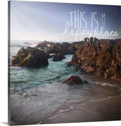 This Is My Happy Place Canvas Wall Art Print Inspirational Home Decor
