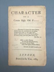 John Oldham / Character Of A Certain Ugly Old Priest 1684
