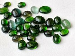 Natural Green Tourmaline Oval Cabochon Cut Green Loose Gemstone 3x4mm to 6x8mm