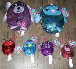 Shimmeez Lot Of 6 New With Tag Dog And Lamb 8 And 4 Clips Owl Dog Pig Lady Bug
