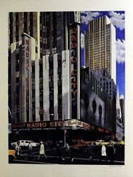 Ken Keeley Radio City Music Hall, New York Serigraph Signed And Numbered