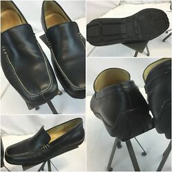 Sandro Moscolini Loafers Moccasins 12 D Black Made Brazil Mint Ygi G8