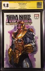 Thanos Legacy 1 Cgc Ss 9.8 Dell'otto Variant Donny Cates Avengers Iron Man Thor