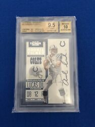 2012 Contenders 201 Andrew Luck Rc Bgs 9.5/10 Rookie Ticket Auto Autograph.