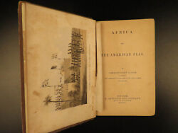 1862 Slave Trade Africa And American Flag Foote Voyages Civil War Slavery Plates