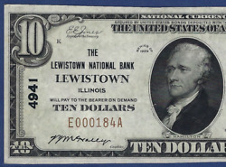Il 1929 10 ♚♚lewistownillinois♚♚ Pcgs Choice New 63 Ppq Best Known
