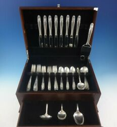 Stradivari By Wallace Sterling Silver Flatware Set For 8 Service 44 Pieces