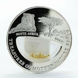 Fiji 10 Dollars South Africa - Gold Lion Silver Coin 2012