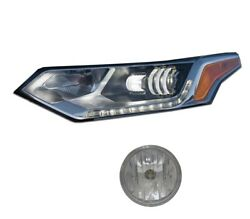 Driver Left Genuine Led Headlight And Fog Light Lamp For Chevy Traverse 2018 Gm