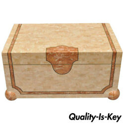 Robert Marcius Casa Bique Tessellated Stone Trunk Box Coffee Table Chest