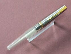Parker Frontier Fountain Pen In Clear And Stainless Steel With Broad Gold Nib
