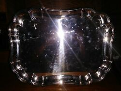 Gorham Heritage Yh14 Silver Plated Serving Platter Tray 15 X 11