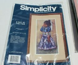 Simplicity Countless Cross Stitch Kit  05509 A Day At The Fair New