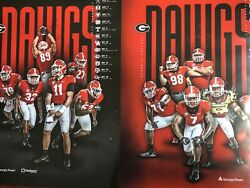 University Of Georgia Football Official 2019 Season Schedule Poster Lot 2 Total