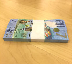 Fiji 7 Dollars X100 Uncirculated New Banknote Rubgy Gold Olympians Unc