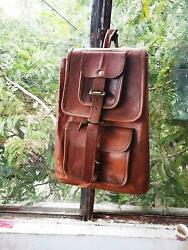 Travel Women#x27;s Bag New Genuine softer Leather Back Pack Rucksack Laptop $60.00
