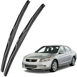 New Set OEM Front Windshield Wiper Blades For 2008-2012 Honda Accord Full Series
