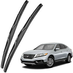 New OEM Front Windshield Wiper Blades For 2010-2015 Honda Crosstour Full Series