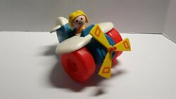 Vintage Fisher Price Toys 1980's 171 Plastic Airplane Toy Spins Picker Find