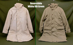 Rare Vintage Wwii 1943 Pattern Reversible Od/white Extreme Cold Parka With Liner