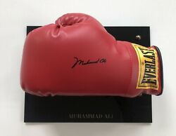 Muhammad Ali Autographed Signed Everlast Boxing Glove With Coa And Display Case