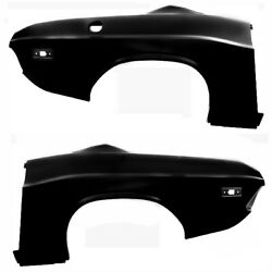 19721974 Challenger Complete Quarter Panel Oe Style Pair Right And Left Side 2pcs