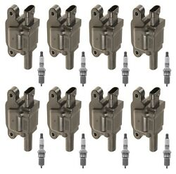 8 Gm Oe Ignition Coils And 8 Acdelco Platinum Spark Plugs Kit For Cts Corvette V8