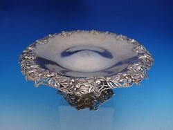 And Co Tazza Compote With Cast Pierced Wild Roses 17166b-7910 3609