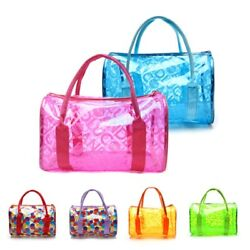 Women Transparent Handbag Shoulder Bag Clear Jelly Purse Clutch PVC Tote Bag #hx