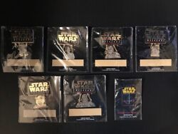 Star Wars Weekends 2000 - Complete Set Of 7 Le Pin Collection With Le Logo Pin