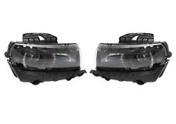 Left And Right Genuine Headlights Headlamps With Hid Pair Set For Chevy Camaro Gm