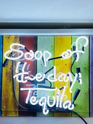 Soup Of The Day Tequila Neon Light Sign Lamp Beer Acrylic 14 Real Glass Artwork