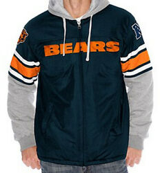 Nfl Chicago Bears 1-on-1 Transition Fleece Jacket Hoodie Xl