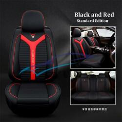 Luxury Breathable PU Leather 6D Car Seat Covers Cushion All Seasons Anti-skid