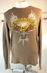Rare Original Nwt New Capes And Canes Menand039s Guns And Roses Thermal Sz Xl Vegas