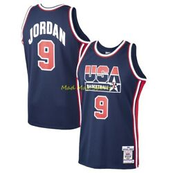 Michael Jordan 1992 Dream Team Usa Navy Mitchell And Ness Authentic Jersey S-2xl