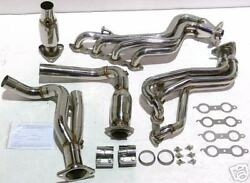 Obx Catted Exhaust Headers For Gmc Yukon Chevy Sierra 00-05 Ls1 Ls2