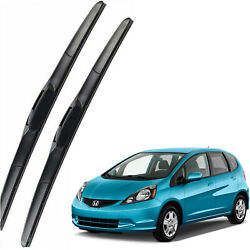 New Set OEM Front Windshield Wiper Blades For 2009-2013 Honda FIT Full Series