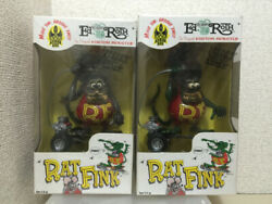 Rat Fink Figure 2 Sets Normal Color And Gray Color Height About 25 Cm Toy