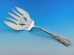 Medallion By Wood And Hughes Sterling Silver Asparagus Serving Fork Bc 9 1/8