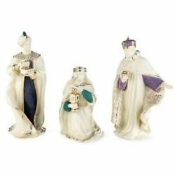 Lenox First Blessing Nativity Three Kings Figurines 3 Wise Men Christmas New