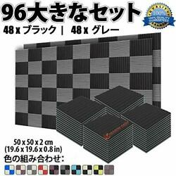 Super Dash 96-piece new 500 x 500 x 20 mm wedged sound absorbing material Soundp