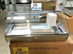New 30 Dry Warmer 4 Pan Curved Display Case Bakery Deli Hot Food Gas Station