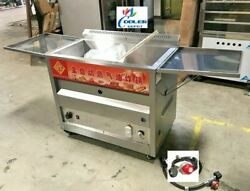 New 40l Propane Deep Fryer W/ Thermostat Or Natural Gas Wide Bin Basket