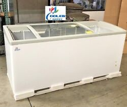 NEW 72quot; Ice Cream Glass Dipping Freezer Chest Showcase Display Commercial NSF