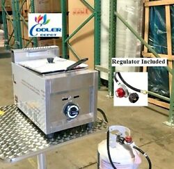New Single Basket Commercial Deep Fryer Model Fy19andnbsppropane Gas Use Counter Top