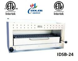 New 24 Commercial Gas/propane Salamander Broiler Made In Usa Certified Nsf
