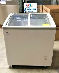 NEW 31quot; Ice Cream Glass Dipping Freezer Chest Showcase Display Commercial NSF