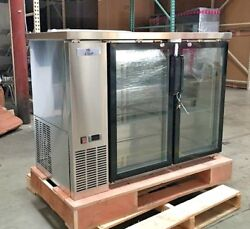 New 48 Stainless Steel Beer Liquor Cabinet Case Refrigerator Commercial Bar Nsf
