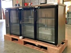 New 72 Stainless Steel Beer Liquor Cabinet Case Refrigerator Commercial Bar Nsf
